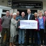 Matthew Ellis with users of Drayton Bassett Club