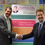 Tamworth Borough Council Leader Daniel Cook and PCC Matthew Ellis