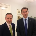 Christopher Pincher and Jeremy Hunt in the Department of Health last week