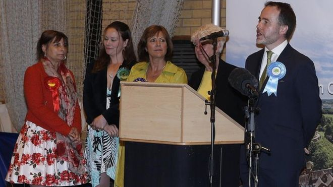 Christopher Pincher speaking after the General Election result in Tamworth was declared